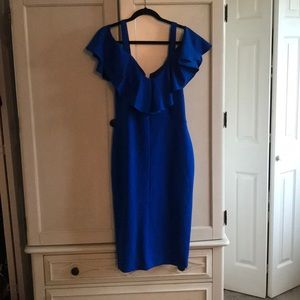 Royal blue off shoulder dress Large fits 12/14